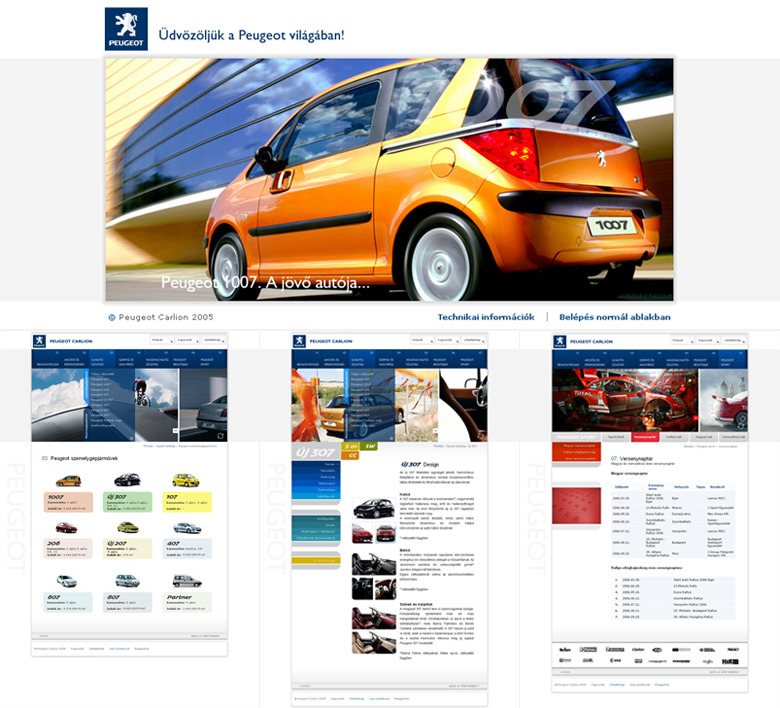 Peugeot Carlion Web Design