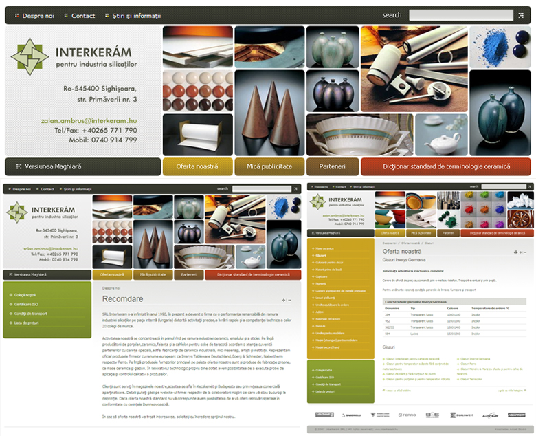Interkerám 2.0 Web Design